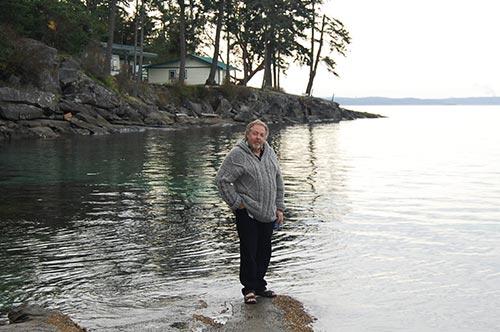 Warren on the beach Vancouver Island